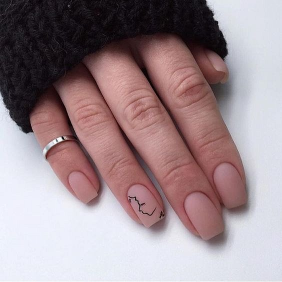 Nude manicure: 30 ideas for a note photo # 9