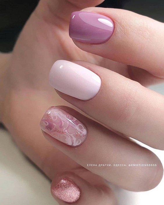 Nude manicure: 30 ideas for a note photo # 10