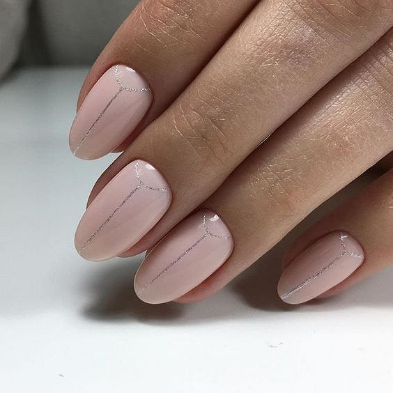Nude manicure: 30 ideas for a note photo # 7