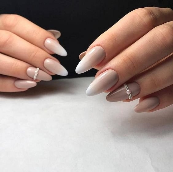 Nude manicure: 30 ideas for a note photo # 8