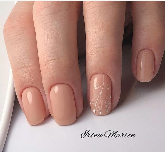 Nude manicure: 30 ideas for a note photo # 13