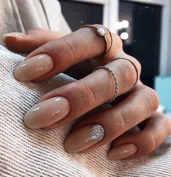 Nude manicure: 30 ideas for a note photo # 6