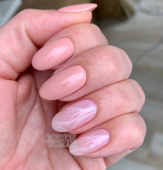 Nude manicure: 30 ideas for a note photo # 12