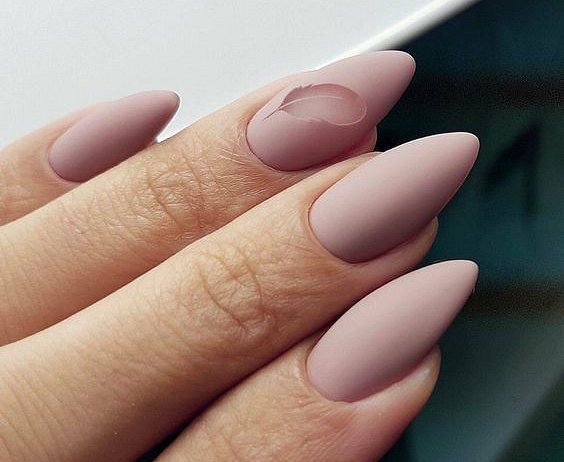Nude manicure: 30 ideas for a note photo # 19