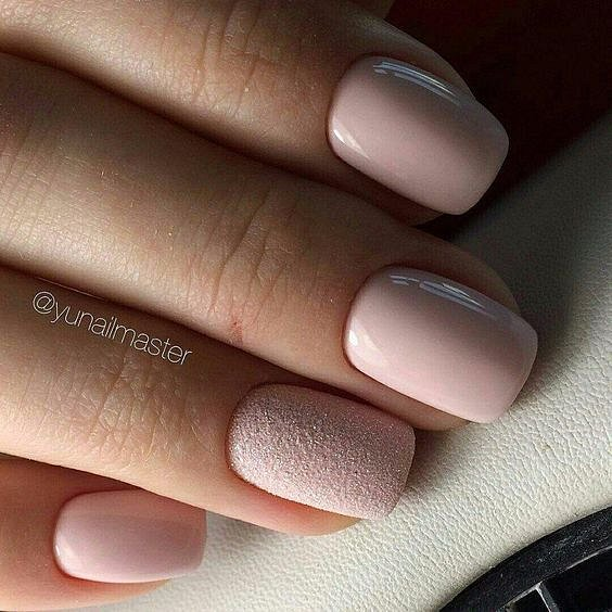 Nude manicure: 30 ideas for a note photo # 18