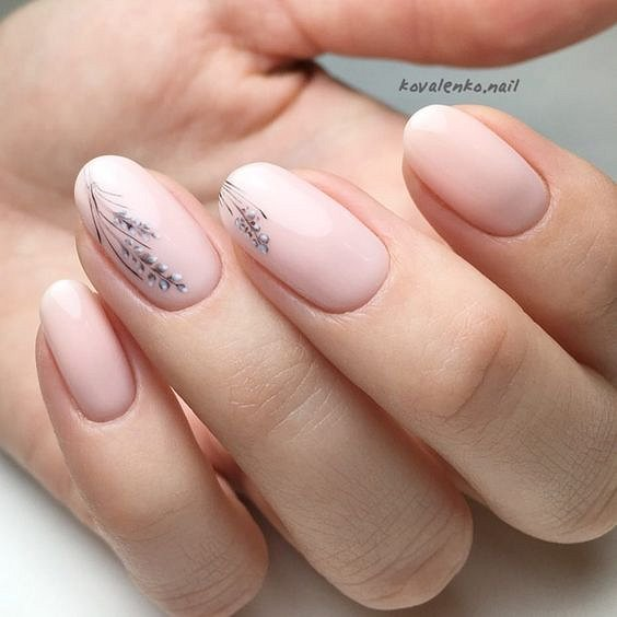 Nude manicure: 30 ideas for a note photo # 21