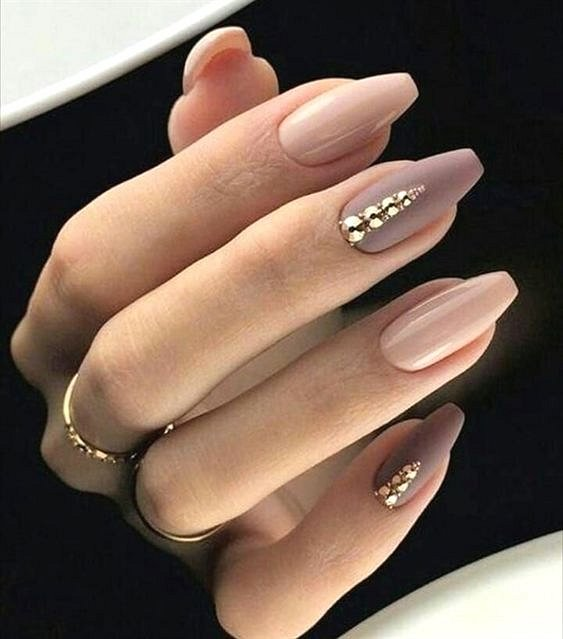 Nude manicure: 30 ideas for a note photo №14