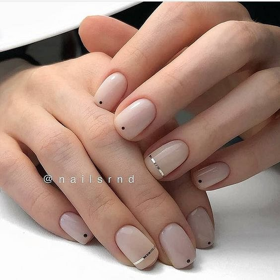 Nude manicure: 30 ideas for a note photo # 29