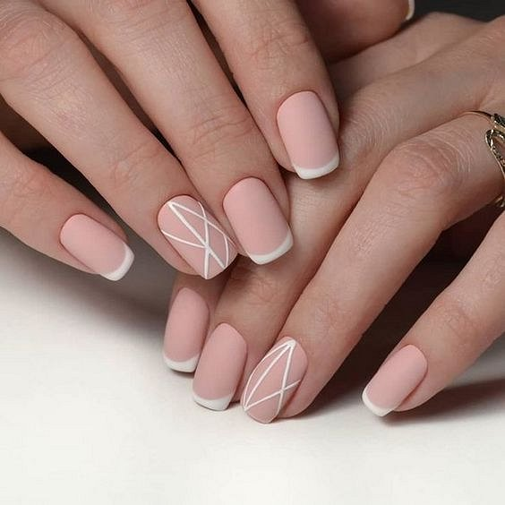 Nude manicure: 30 ideas for a note photo # 28