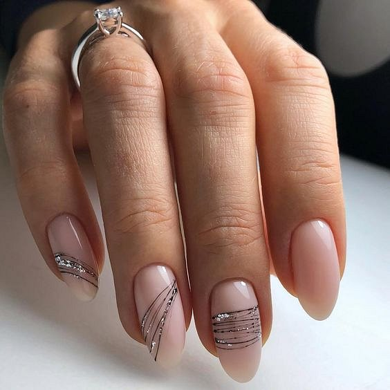 Nude manicure: 30 ideas for a note photo №24