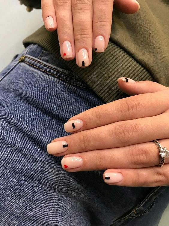 Nude manicure: 30 ideas for a note photo # 30