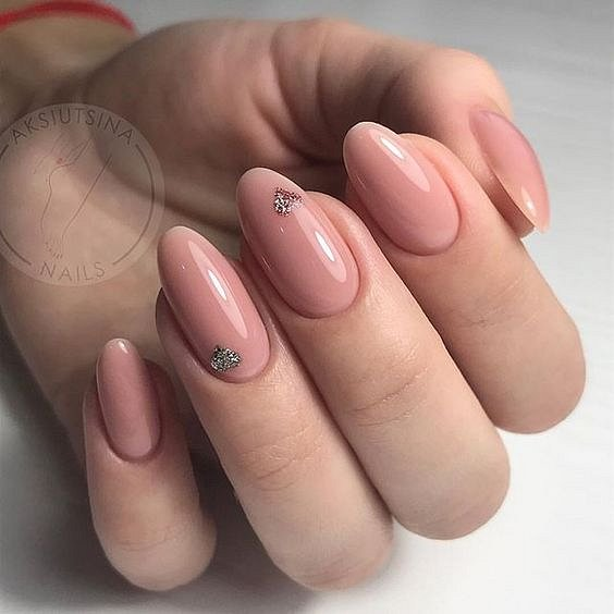 Nude manicure: 30 ideas for a note photo # 31