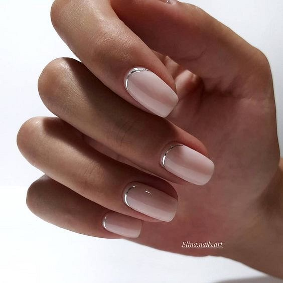 Nude manicure: 30 ideas for a note photo №35