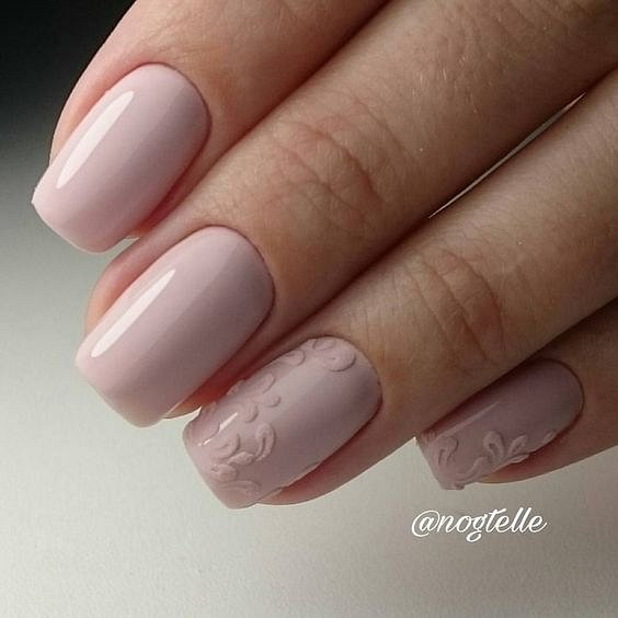 Nude manicure: 30 ideas for a note photo # 32