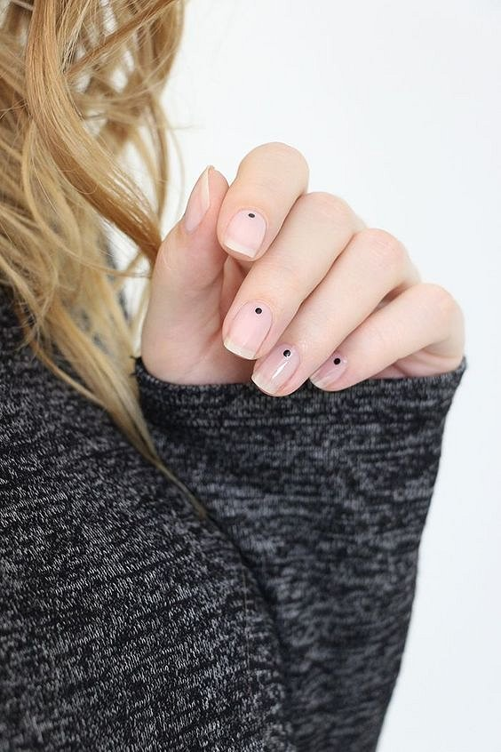 Nude manicure: 30 ideas for a note photo # 33