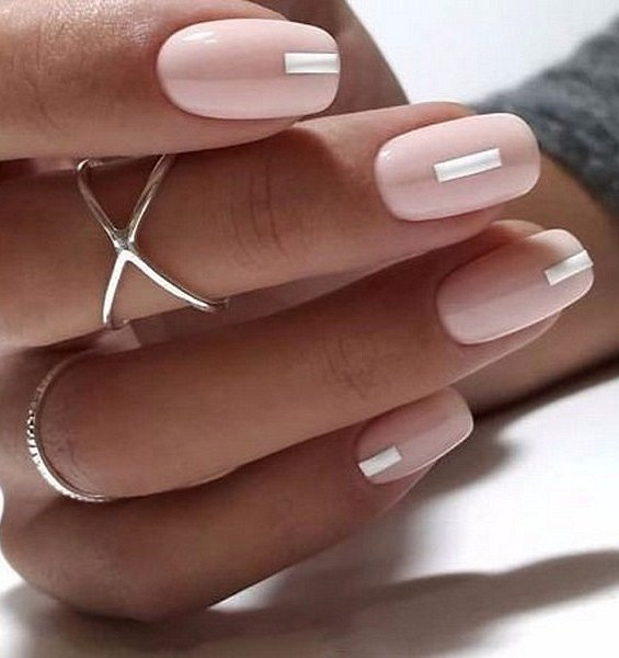 Nude manicure: 30 ideas for a note photo # 38