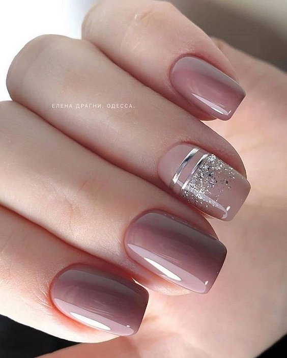 Nude manicure: 30 ideas for a note photo №39