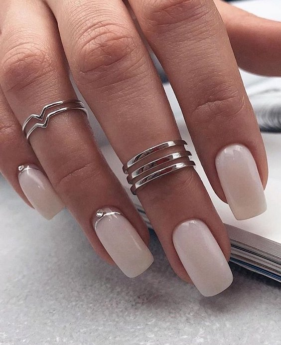 Milk manicure - a fashion trend from Instagram photo # 2