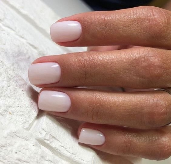 Milk manicure - a fashion trend from Instagram photo # 3