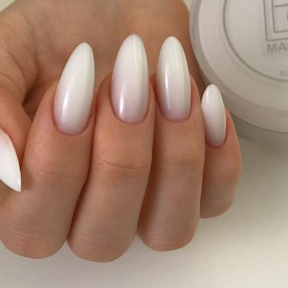 Milk manicure - a fashion trend from Instagram photo # 7