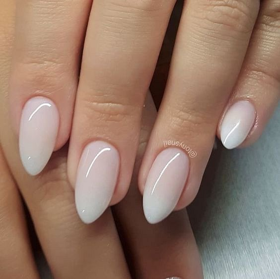 Milk manicure - a fashion trend from Instagram photo # 8