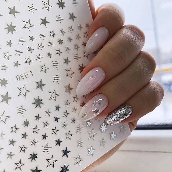 Milk manicure - a fashion trend from Instagram photo # 10