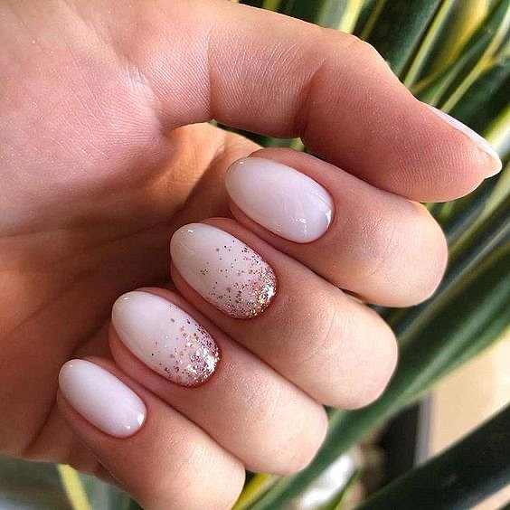 Milk manicure - a fashion trend from Instagram photo # 13