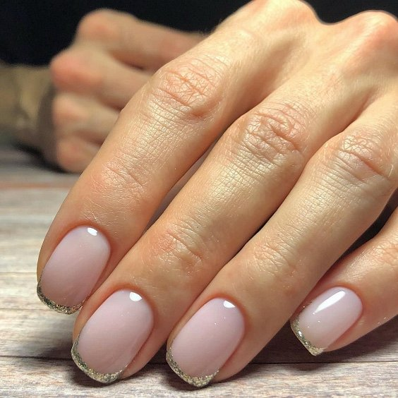 Milk manicure - a fashion trend from Instagram photo # 12