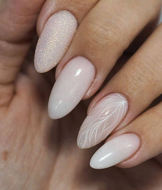 Milk manicure - a fashion trend from Instagram photo # 16