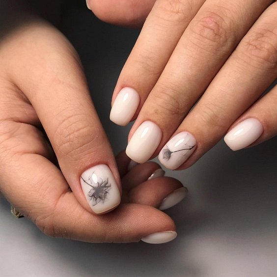 Milk manicure - a fashion trend from Instagram photo # 23