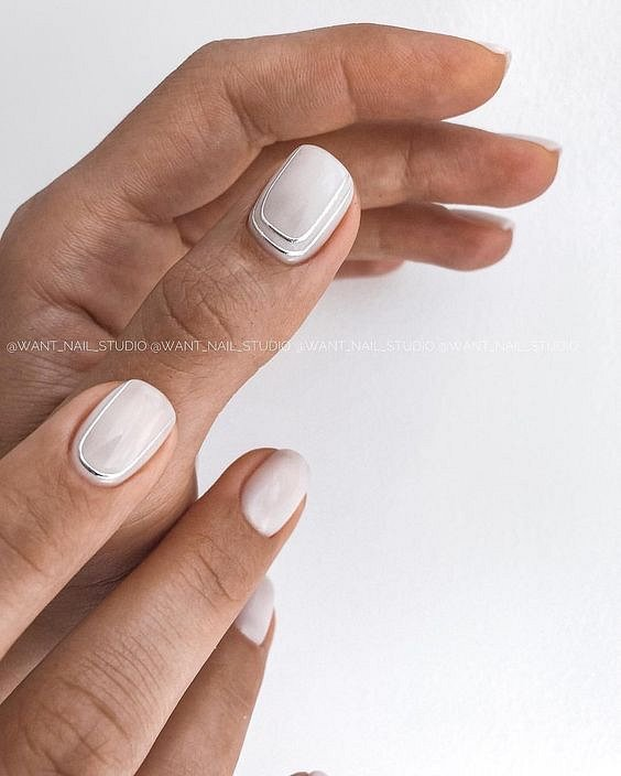Milk manicure - a fashion trend from Instagram photo # 19