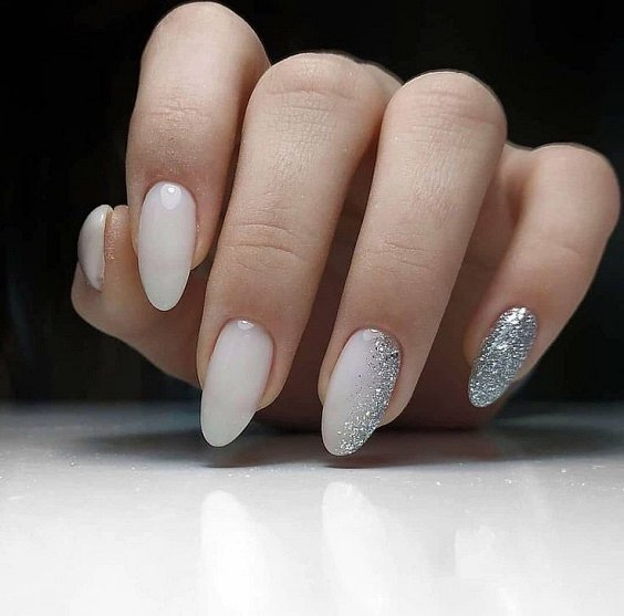 Milk manicure - a fashion trend from Instagram photo # 27