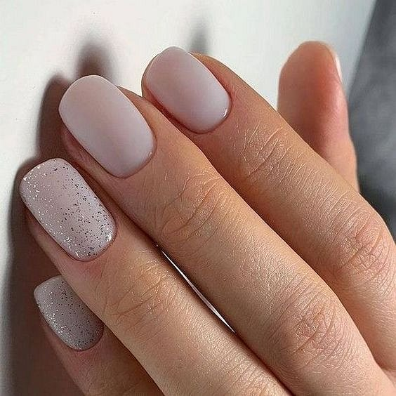 Milk manicure - a fashion trend from Instagram photo # 26
