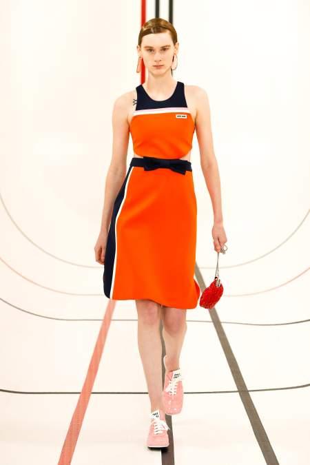 Miu Miu Sporty Orange Dress