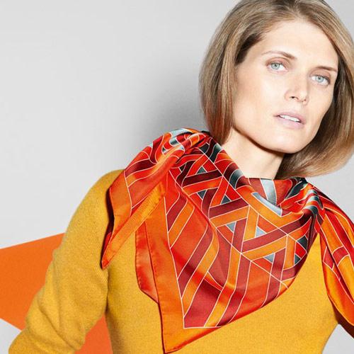 Hermès scarf as accessory