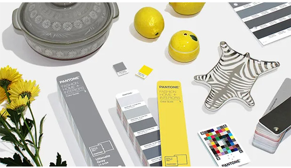 Rich yellow and gray - the colors of 2021 by Pantone
