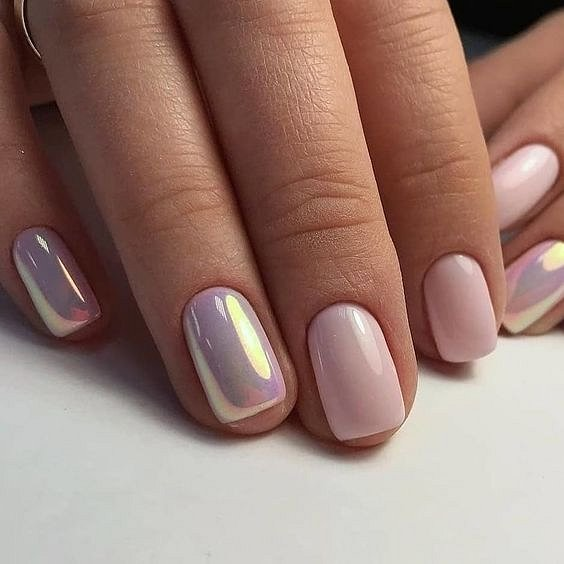 Nude manicure: 30 ideas for a note photo # 1