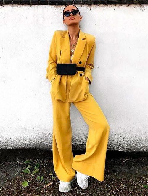 Yellow, white, black