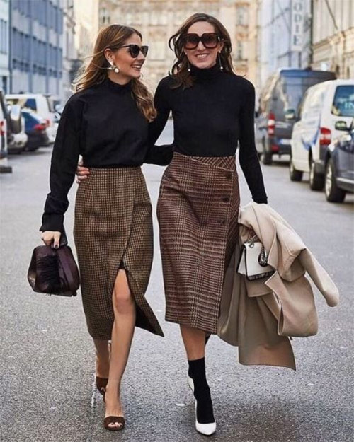 Plaid skirt - accent of the image