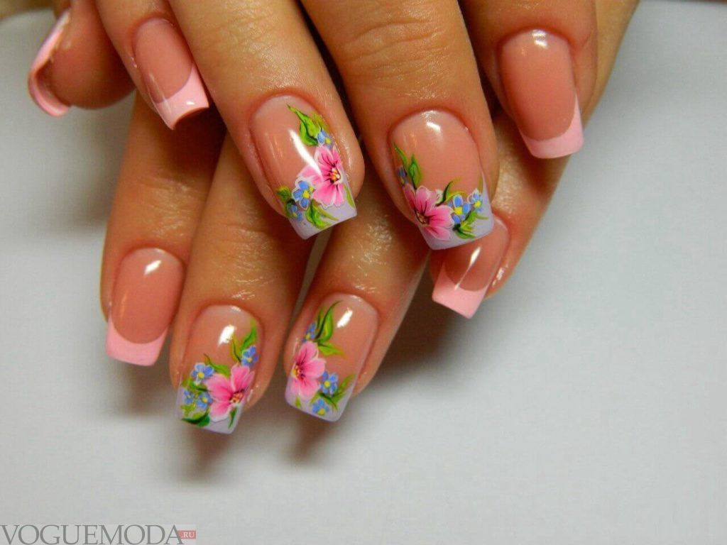pink floral french