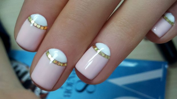 bicolor stripe nails