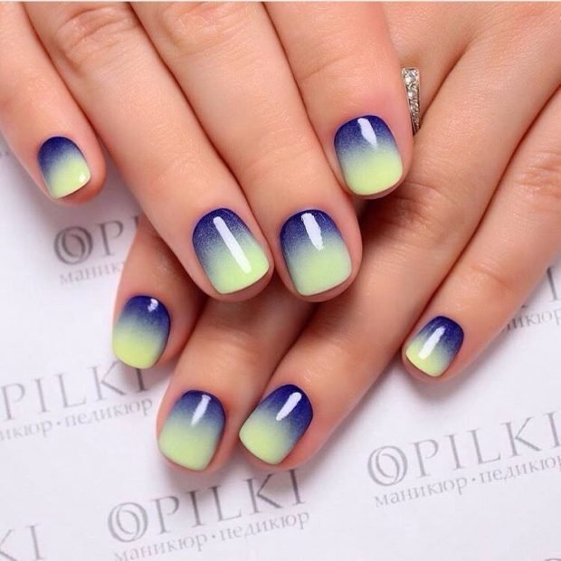 yellow-blue ombre