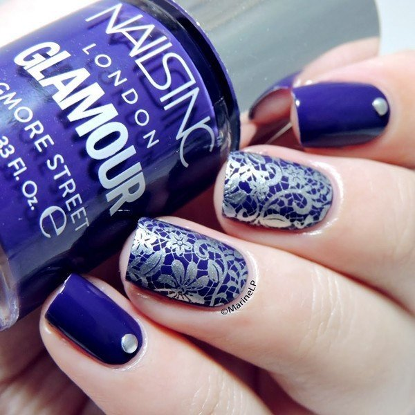 bright blue stamping