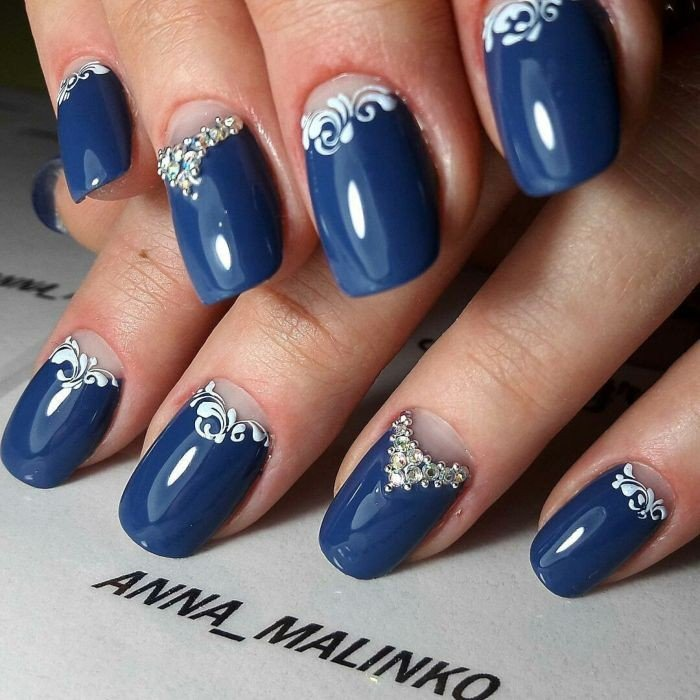 moon blue with decor