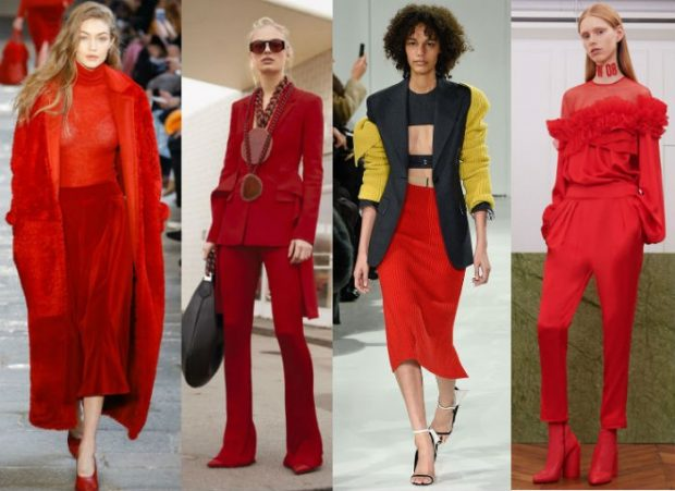 fashion trends spring summer 2021 in red