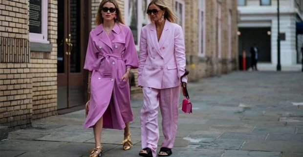 fashion trends spring summer 2021 pajama style pale pink style