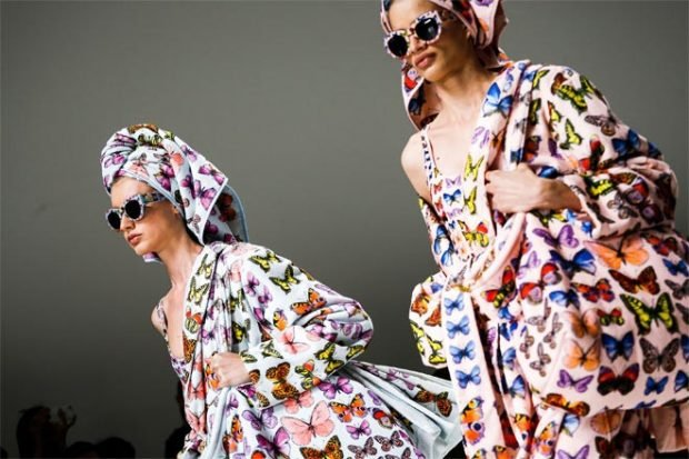 fashion trends in print with butterflies
