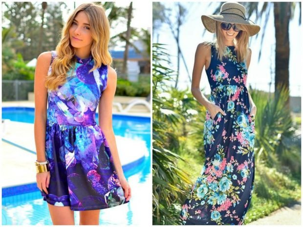 color dress short sleeve maxi in flowers