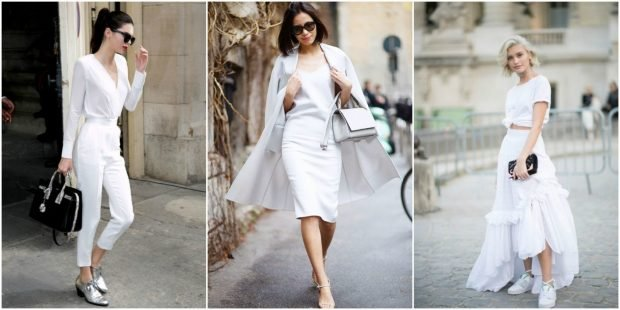 fashionable images in white