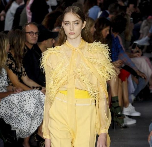 fashion trends spring 2021 yellow trousers matching blouse